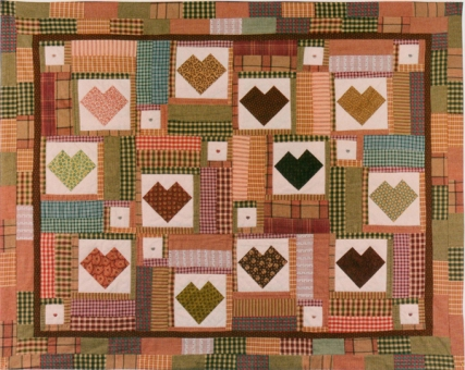 Secret hearts quilt - Melony Patch