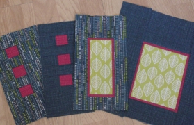 Blue leaves quilt (and a little bit about sewing therapy) - selection of blocks