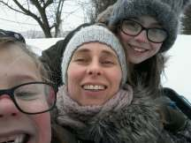 Me with my little ladies having fun in the snow.