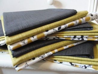 Golden Glow fabrics for kits