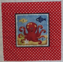 Pirate quilt - octopus