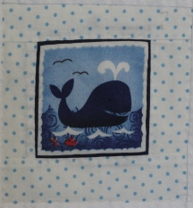 Pirate quilt - whale