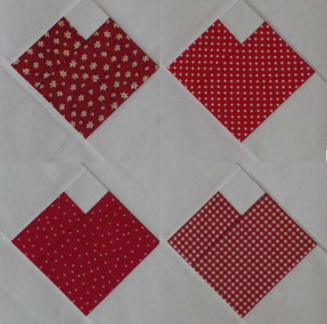 Paper pieced hearts for Home and Garden