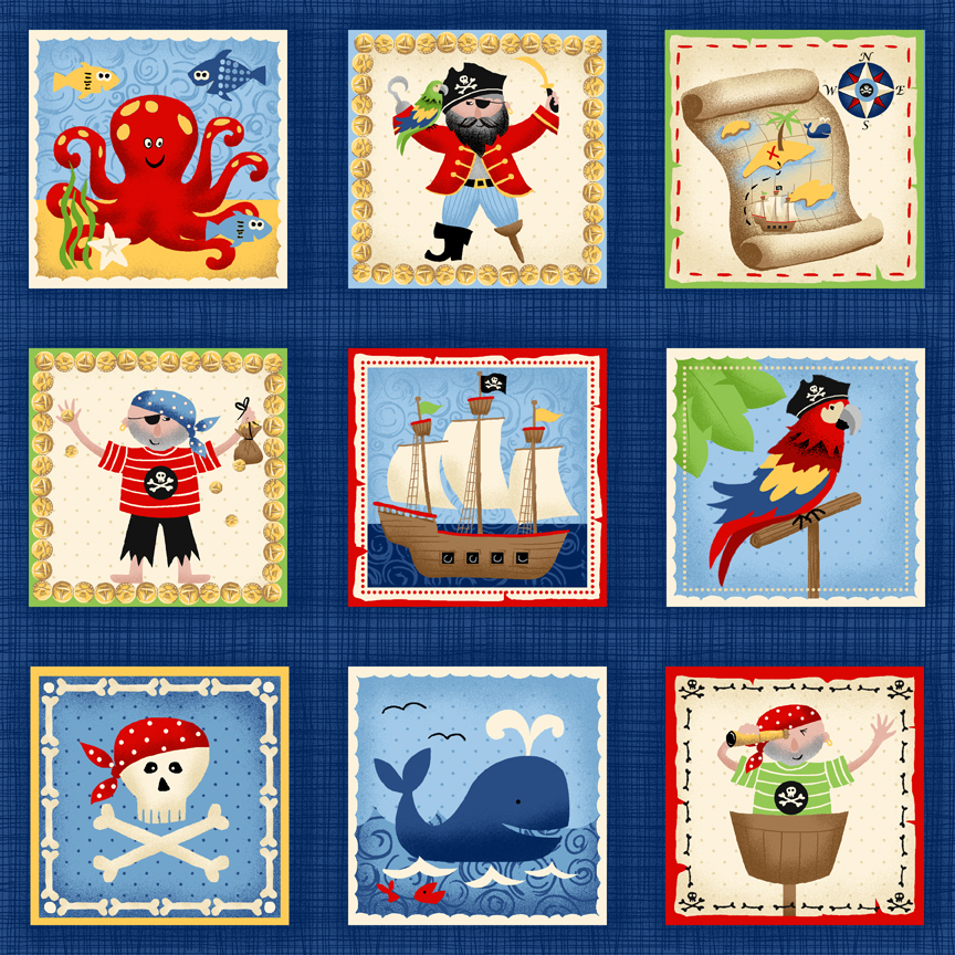 Pirate labels by Makower