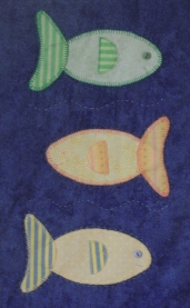 Nautical quilt fish block