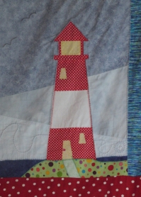 Nautical quilt lighthouse block