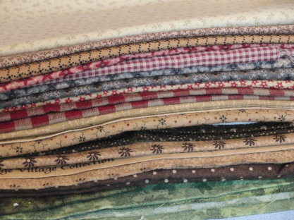 O' Little Town fabric selection