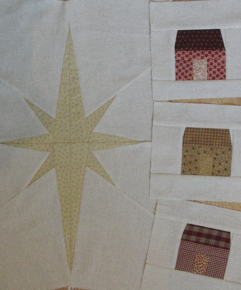 A star is born… in my new Christmas quilt